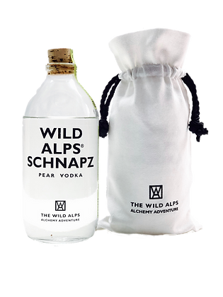 WILD ALPS SCHNAPZ - Pear Vodka 500 ml in Cotton Sachet