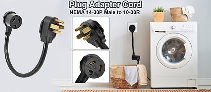 3 Prong Dryer to 4 Prong Dryer Outlet Plug Adapter Cord 14-30P to 10-30R