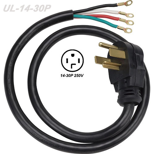 4-Prong 30 Amp Dryer Cord NEMA 14-30P 30 Amp 125/250-Volt