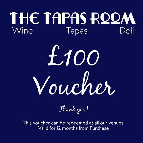 £100 Food & Drink Voucher