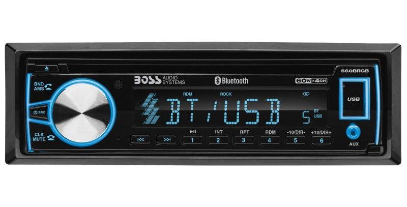 BOSS - ELITE - Single Din DVD/CD/MP3/AM/FM Receiver w/ Bluetooth, RGB Illuminati