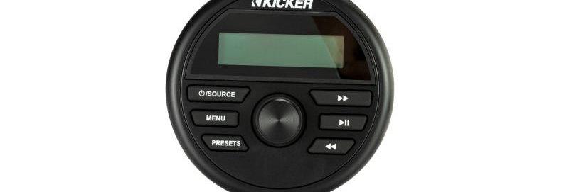 KICKER - KMC2 Weather-Resistant Gauge-Style Media Center w/Bluetooth