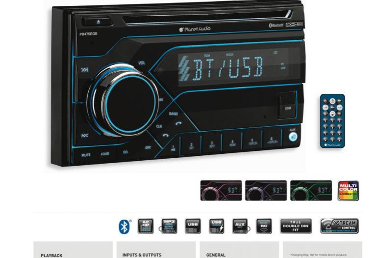 PLANET AUDIO - In-Dash Double-Din Bluetooth/DVD/MP3