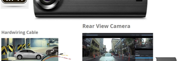 THINKWARE 2-CHANNEL DASHCAM, DUAL CAMERAS, WIFI, 16GB, HARDWIRE