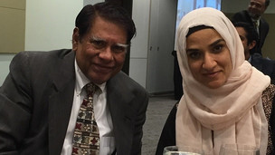 Dr. Basheer Ahmed with Mrs. Dalia Mogahed at Muslim Legal Fund Banquet