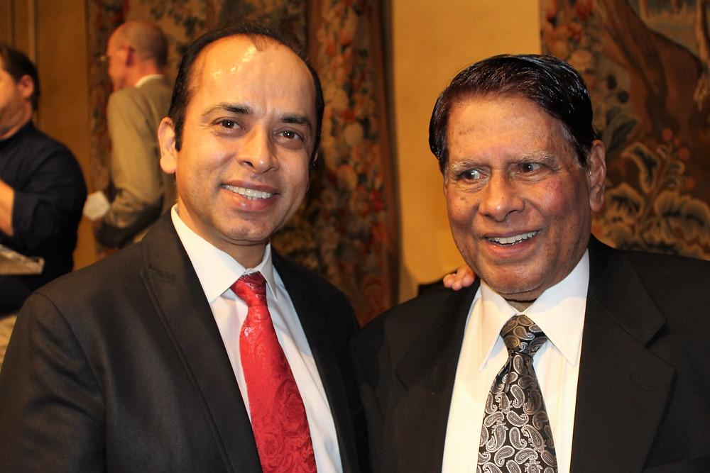 Dr Ahmed with Mr. John Hammond