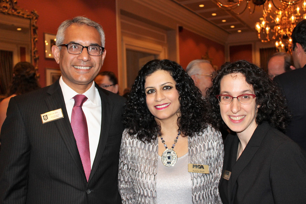 Dr Shahid & Ayesha Shafi with Ms. Adena Walker (MCA)
