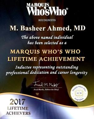 Marquis Lifetime Achievement Award