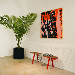 Wall Art by OokLoop Studio Bench & Ceramics by radvalley