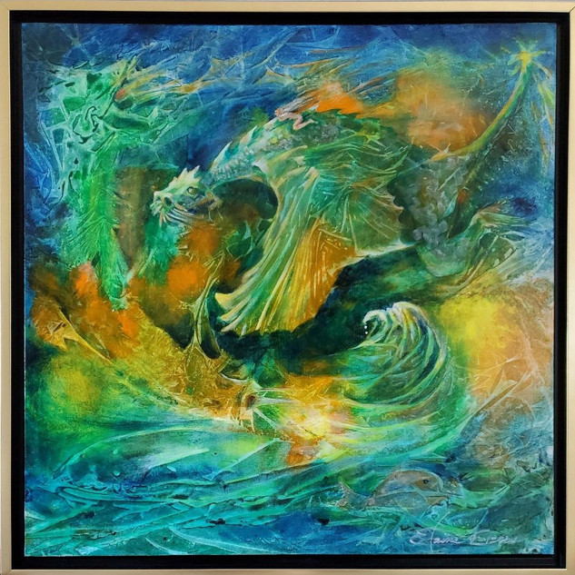 Pisces Dragons by Elaine Evans