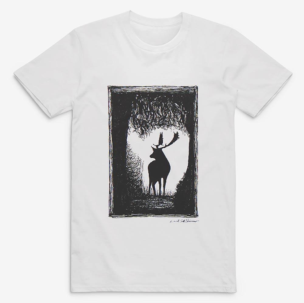 Wild-Stag-Deer-of-Devon-Drawing,-tshirt-