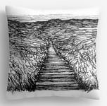 Saunton-Beach-Sand-Dunes-Drawing,-cushio