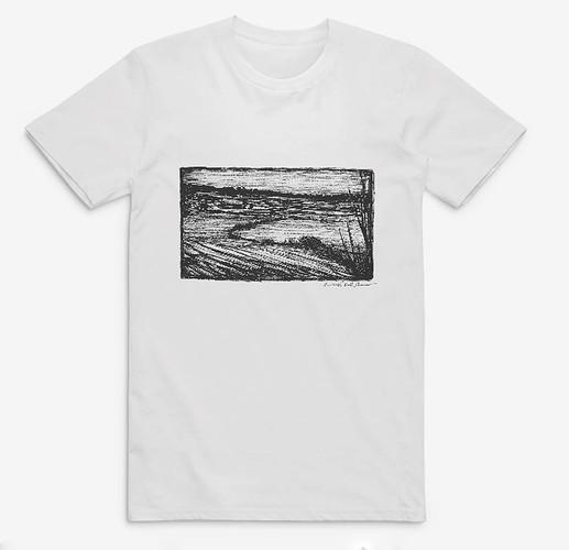 Devon-Countryside-Drawing,-tshirt-by-rus