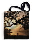 Tree lined Loch , Scotland Tote Bag by R