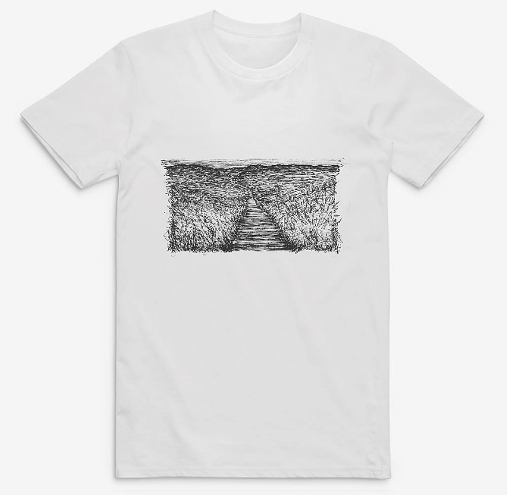 Saunton-Beach-Sand-Dunes-Drawing,-tshirt
