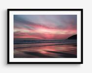 Saunton Sands Sunset, North Devon Framed