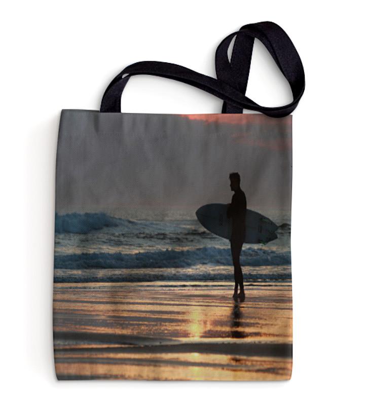 Sunset Surfer, Croyde, North Devon Pillo
