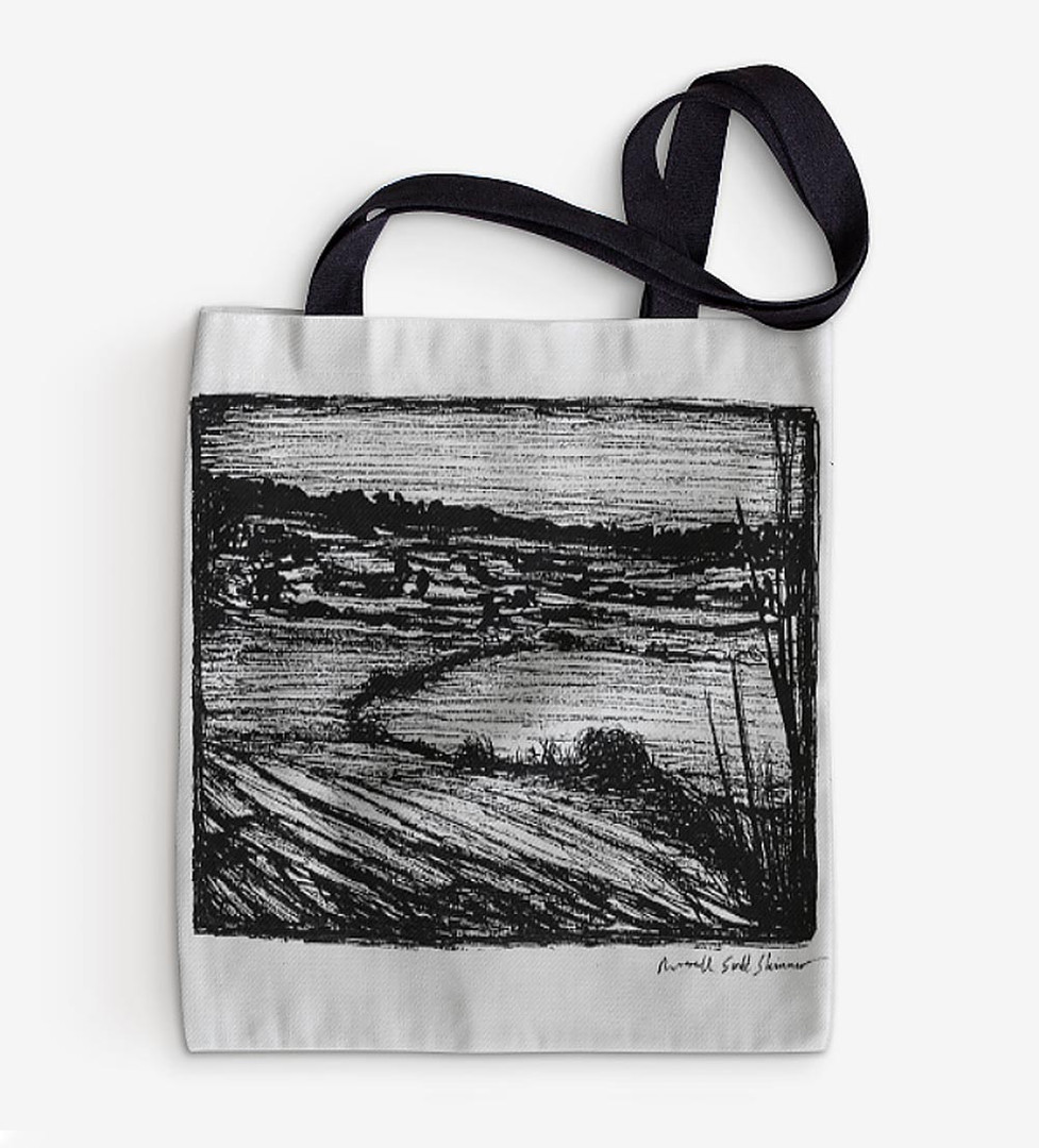 Devon-Countryside-Drawing,-tote-bag-by-r
