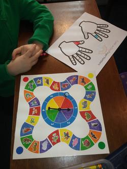 rainbow hands activity