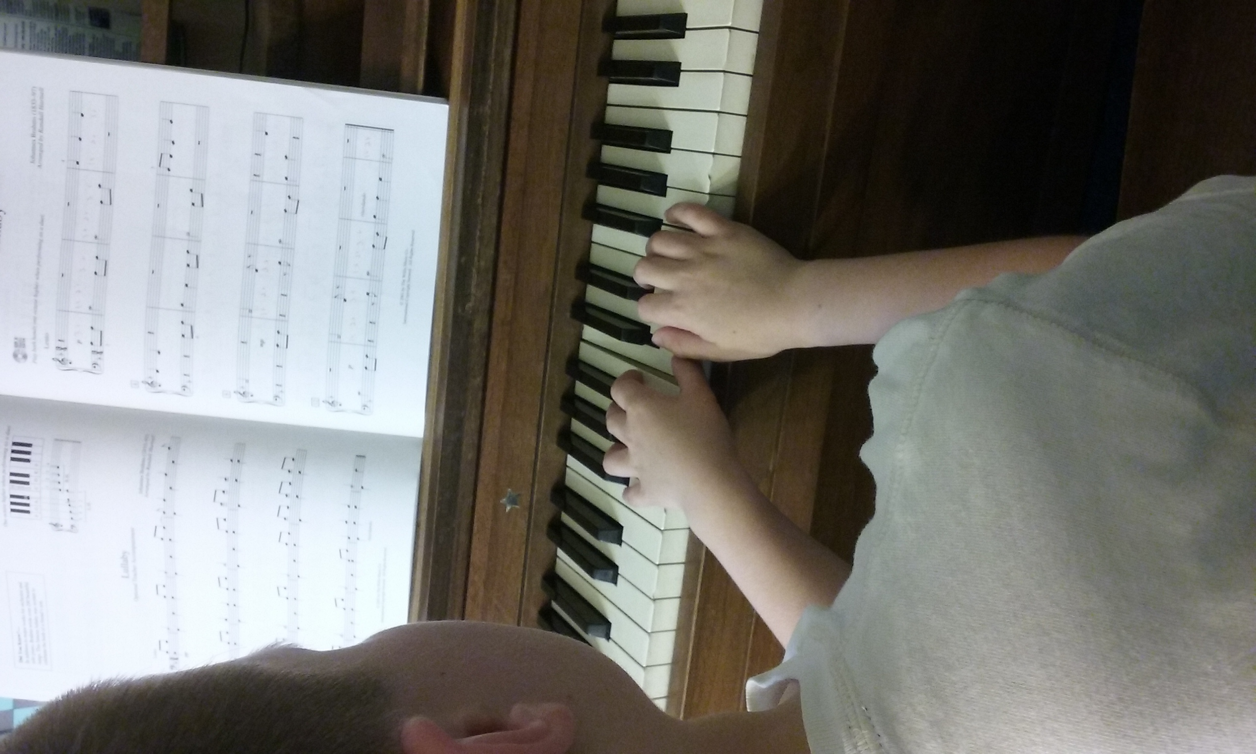 my son at the piano!