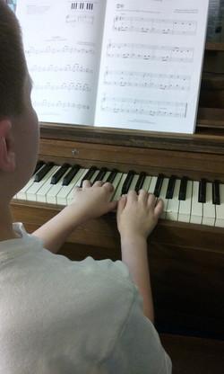 my son at the piano!