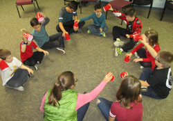 Christmas party: cup rhythms whole group