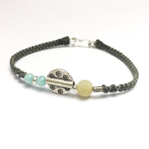 Chakra - braccialetto fatto a mano in argento