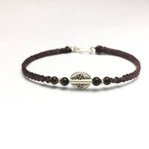 Silver - Tiger eye handmade bracelet