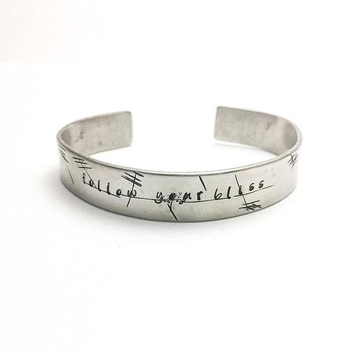 Follow your bliss bracelet