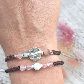 We've infused our handmade bracelets wit