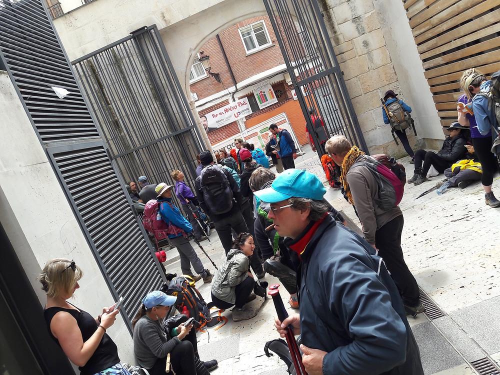 Camino de Santiago - busy Burgos Municipal