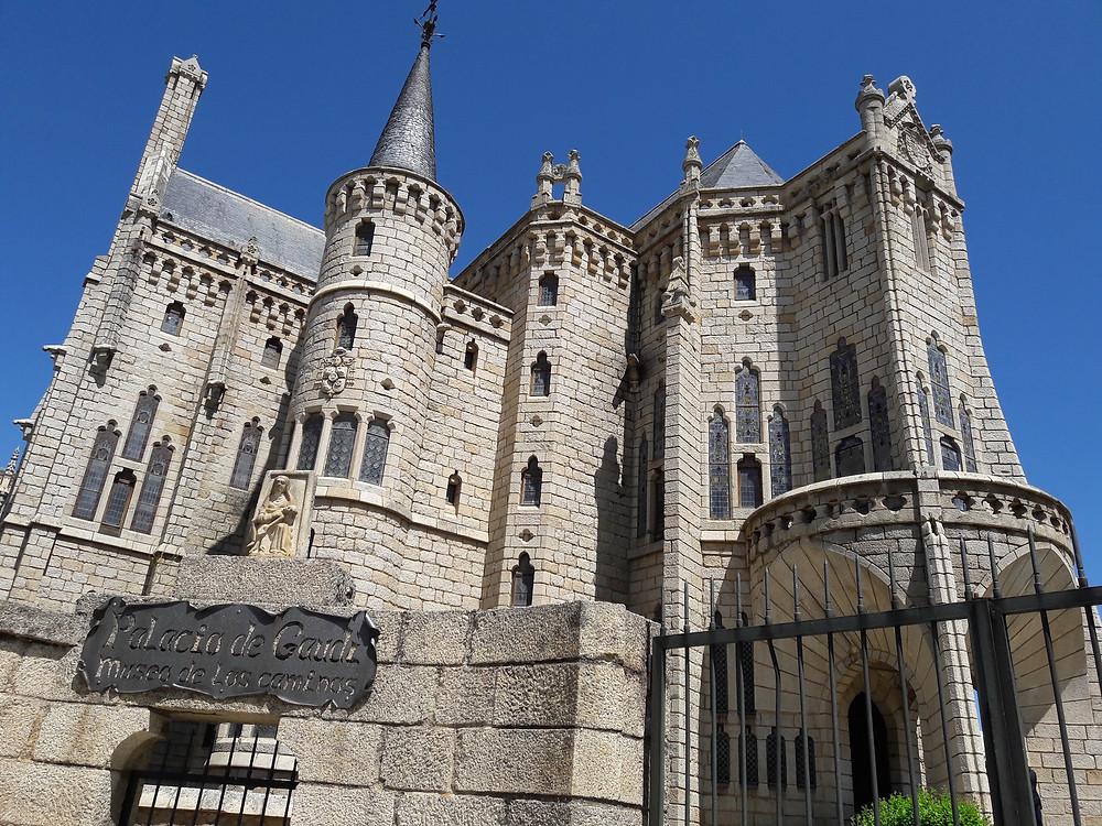 Camino de Santiago - Gaudi's episcopal palace Astorga