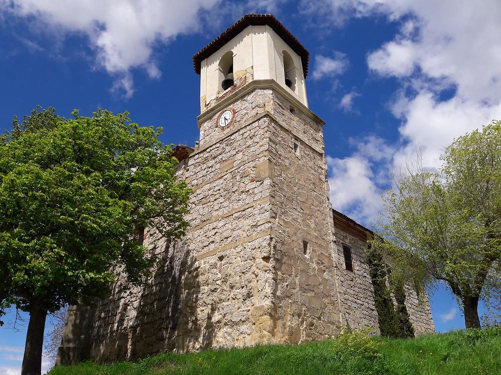 Camino de Santiago Villambistia church