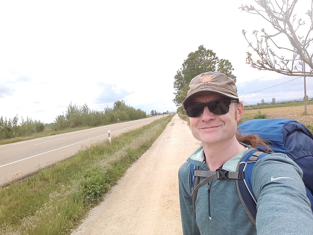 Camino de Santiago - The dull N120 out of Leon