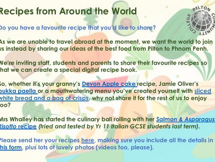 MFL World Recipe Challenge