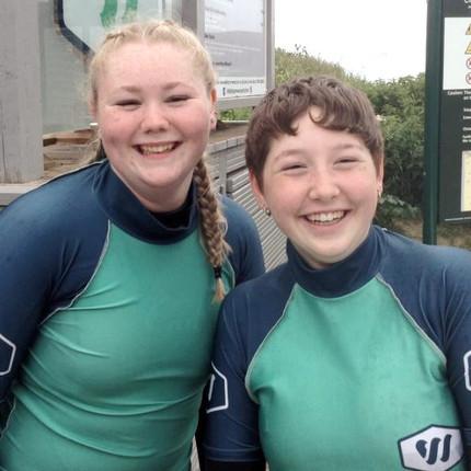 Saunton surfers