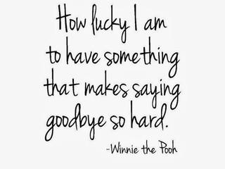 So hard to say goodbye...