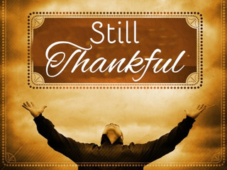 Unsettled but still Thankful