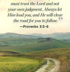 Let Him Lead You...