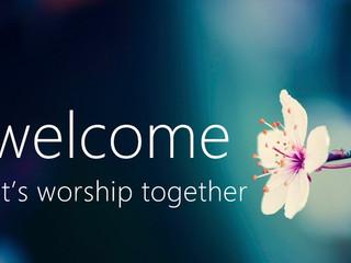 Let's worship together!