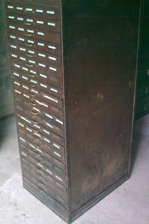 Cassettiera da orefice in metallo