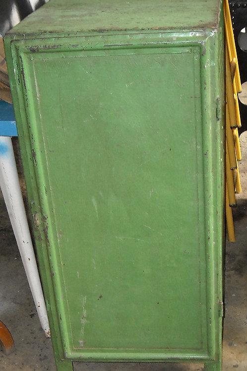 Mobiletto in metallo ad un'anta verde