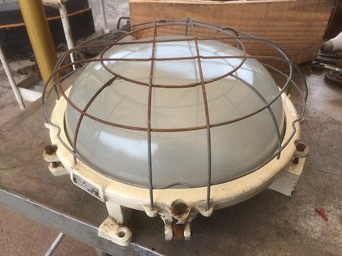 Plafoniera in metallo  e vetro