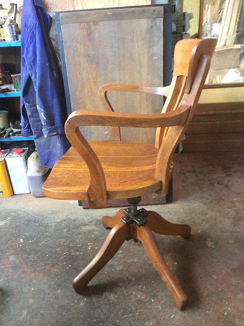 Poltrona da scrivania in legno di Rovere