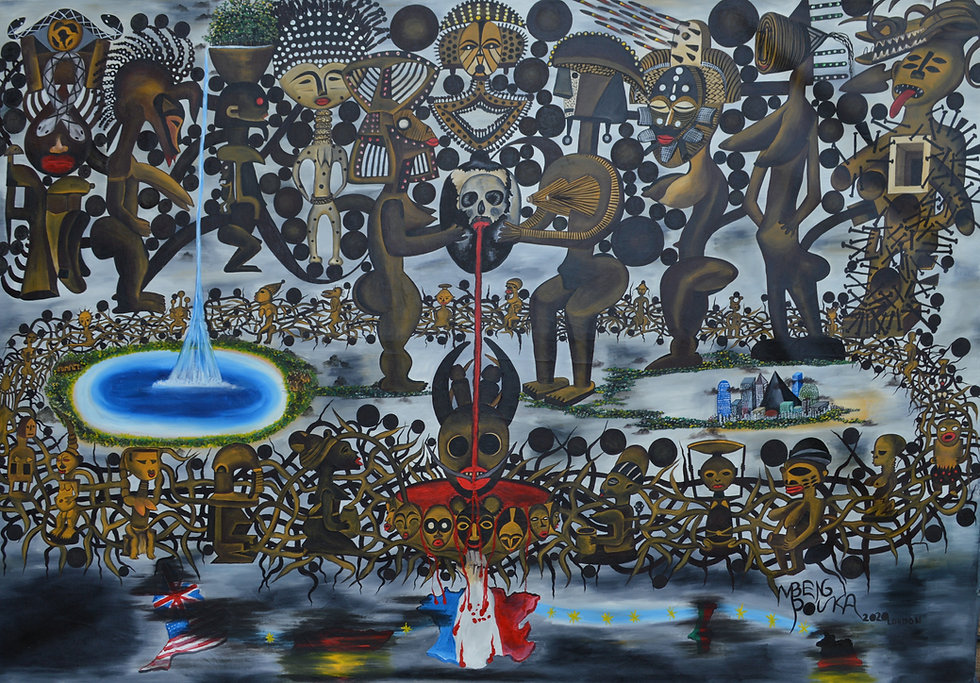 Francafrique - The prophecy_175 x 250 cm