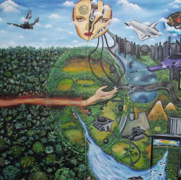 The transfer of knowledge 270 x 170 cm -
