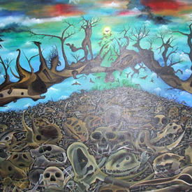 The spirit of death 170 x 140 cm.JPG