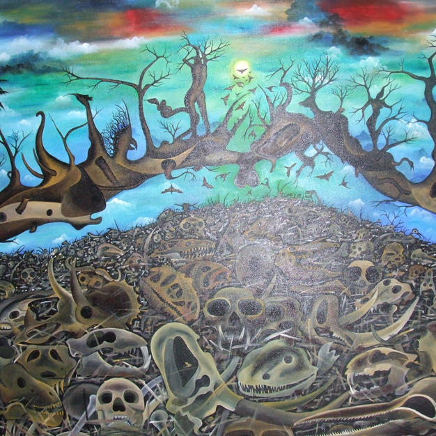 The spirit of death 170 x 140 cm.JPG