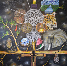 The tree of life 140 x 170 cm, oil on ca