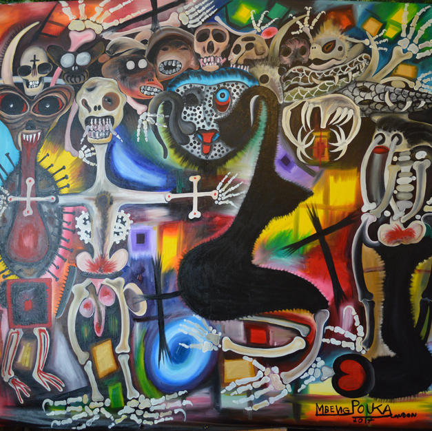The Prophecy of Dry Bones  200 x 180 cm.